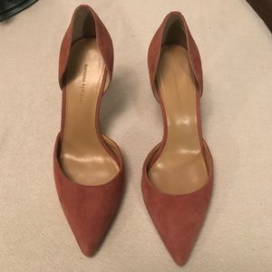 D'orsay suede pumps